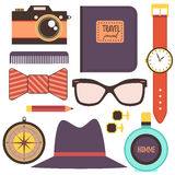 Man accessories flat vector illustration Royalty Free Stock Photography