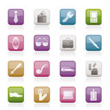 Man Accessories icons and objects Stock Photography