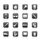 Man accessories icons and objects Royalty Free Stock Image