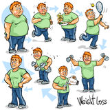 Man achieving his Weight-Loss goal Royalty Free Stock Photo