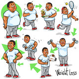 Man achieving his Weight-Loss goal Stock Photos