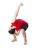 Man is an acrobat Royalty Free Stock Images