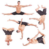 Man acrobatics gymnastic Stock Photo