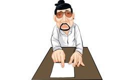 Man action cartoon, line sticker vector. Man in many actions cartoon, line sticker vector Royalty Free Stock Photos