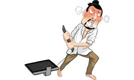 Man action cartoon, line sticker vector. Man in many actions cartoon, line sticker vector Stock Images