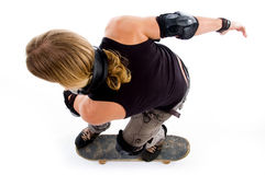 Man in action on skateboard Stock Photo