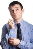Man adjusting tie Royalty Free Stock Images