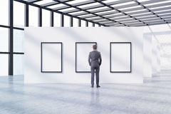 Man admiring art Stock Photo