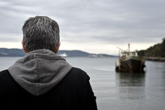 Man admiring the view. Royalty Free Stock Images
