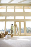 Man admiring view from new home Royalty Free Stock Images