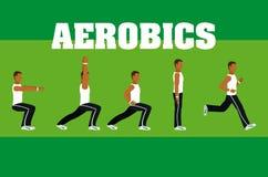Man and aerobics. Cartoons vector illustration graphic design vector illustration