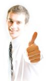 Man with affirmative gesture Stock Image