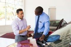 Man african car salesman Stock Images