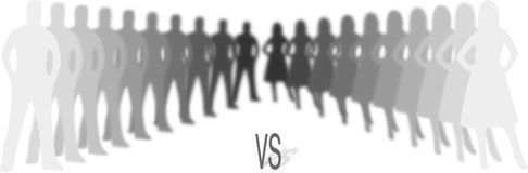 Man against woman silhouettes antagonism concept. Man against woman grey silhouettes antagonism concept Stock Image