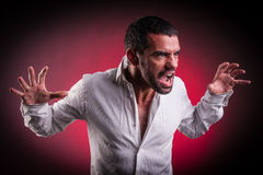 Man with agressive look Royalty Free Stock Photos