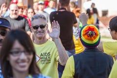 Man at AIDSwalk Stock Images