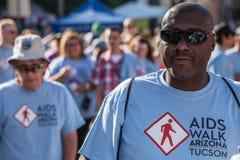 Man at AIDSwalk Royalty Free Stock Photo