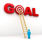 Man aiming to his target in red word goal Royalty Free Stock Photography