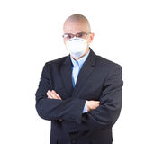 Man in the air mask. Royalty Free Stock Photography