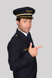 Man in an airline captain's uniform Stock Photos