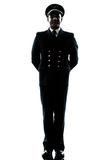 Man in airline pilot uniform silhouette Royalty Free Stock Photography