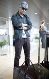 Man at Airport Royalty Free Stock Photography
