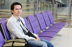 Man in the airport. Royalty Free Stock Photography