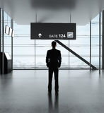 Man in airport Royalty Free Stock Photography