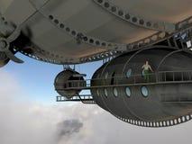 Man in airship Stock Image