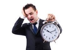 Man with alarm clock Royalty Free Stock Photos
