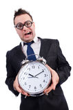 Man with alarm clock Royalty Free Stock Photography