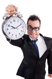 Man with alarm clock Royalty Free Stock Images