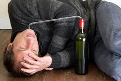 Man alcohol addiction Stock Image