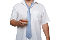 Man with alcohol in hand Royalty Free Stock Photos