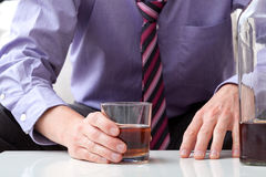 Man with alcohol problem Stock Image