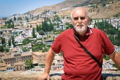 Man at the Alhambra in Cordoba, Spain Stock Photos