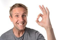 Man all is ok hand sign Royalty Free Stock Photos