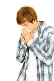 Man with allergies Stock Photography