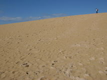 Man alone. Alone in the dune Stock Photos