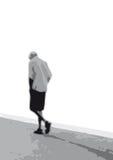 Man alone (vector) Royalty Free Stock Photos