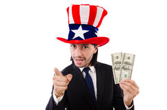 Man with american dollar Stock Image