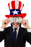 Man with american dollar Royalty Free Stock Image