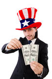 Man with american dollar Royalty Free Stock Photos