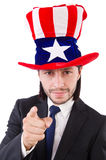 Man with american flag Royalty Free Stock Images