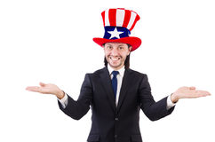 Man with american flag Stock Photography