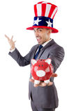 Man with american hat Royalty Free Stock Images