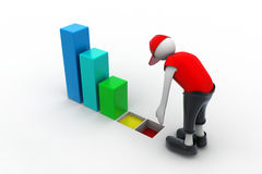 Man analysing the business graph Stock Photography
