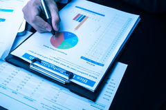 Man Analysis Business and financial report Royalty Free Stock Photography
