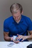 Man analyzing his budget Stock Photos