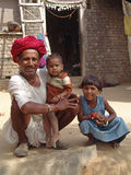 Man And Child In Jaipur, India Stock Images